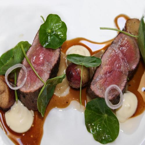 Rare Beef with Nasturtium